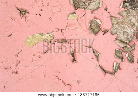 Cracked Wet and Peeling Paint Wall Texture