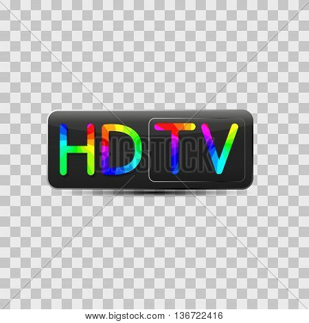 High-definition video sign isolated on grey background design of digital devices vector illustration.