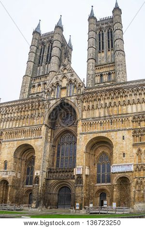 Lincoln Cathedral Lincoln England built from 1088 over several phases