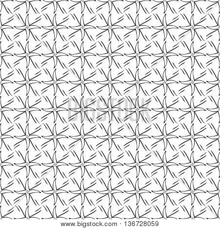 Funky Geometric Stars Tribal Spikes Trendy Decorative Repeating Seamless Vector Pattern Background Design