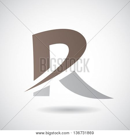 Design Concept of a Colorful Stock Logo Icon of Letter R, Vector Illustration