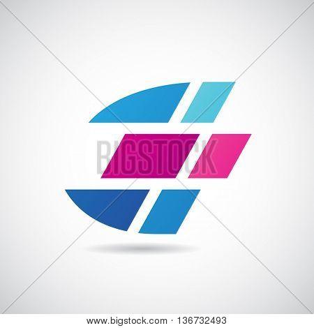 Design Concept of a Colorful Stock Logo Icon of Letter E, Vector Illustration
