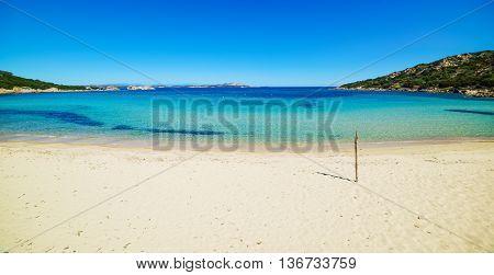 Cala Battistoni beach in Costa Smeralda Italy