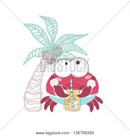 crab with smoothie