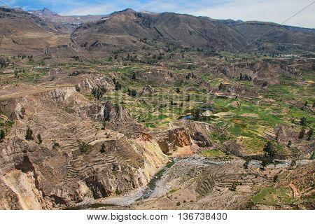 View Of Colca Canyon In Peru