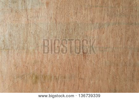 Wooden fiberboard panel with green stains at a construction site. Construction and architecture concept.