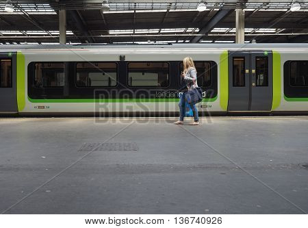 Train At London Euston In London