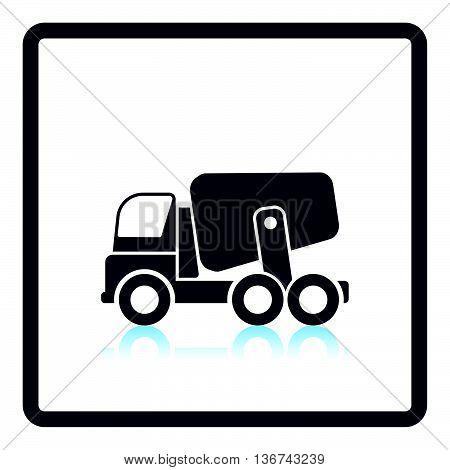 Icon Of Concrete Mixer Truck