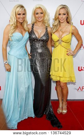 Girls Next Door Bridget Marquardt, Holly Madison and Kendra Wilkinson at the 36th AFI Life Achievement Award held at the Kodak Theater in Hollywood, USA on June 12, 2008.