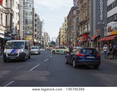 Friedrickstrasse (frederick Street) In Berlin