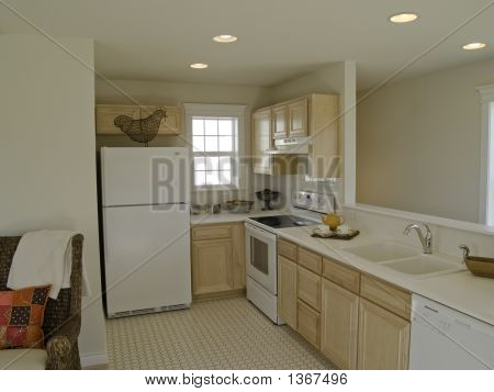 Galley kitchen in small apartment