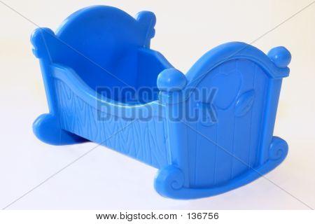 Blue Plastic Cradle