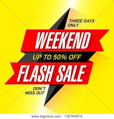 Weekend Flash Sale banner