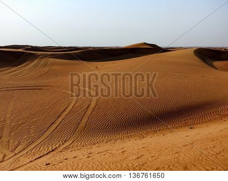 An open view of the Dubai Desert.