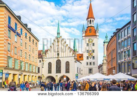 The Old Town Hall Of Munich, Germany.