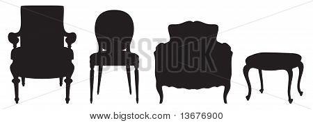 Set of seats. Vector