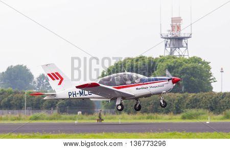 Leeuwarden, The Netherlands - June 11, 2016: Socata Tb-20 Trinidad (martinair Flying School) During