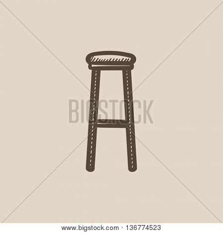 Barstool vector sketch icon isolated on background. Hand drawn Barstool icon. Barstool sketch icon for infographic, website or app.