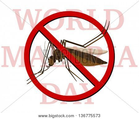 World malaria day poster with no mosquito illustration