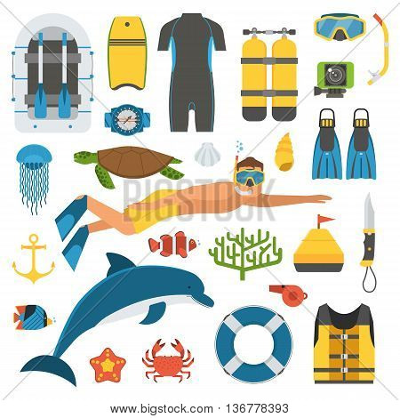 Skin Diving And Snorkeling Set