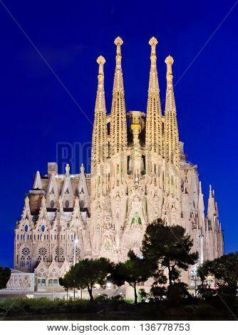 Sagrada Familia In Barcelona, Spain.