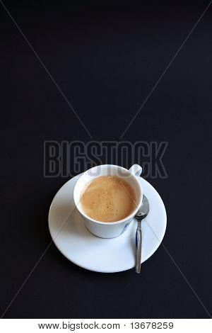 Coffee on blackbackground