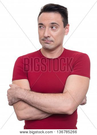 Handsome Athletic Man Isolated