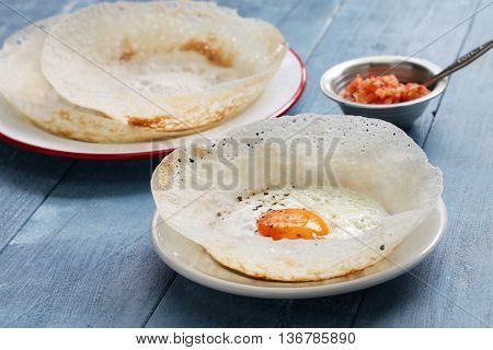 sri lankan egg hopper, bittara aappa