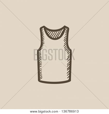 Male singlet vector sketch icon isolated on background. Hand drawn Male singlet icon. Male singlet sketch icon for infographic, website or app.