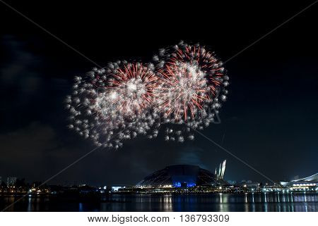 2016-07-02 Singapore national day fireworks display rehearsal