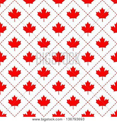 Canadian maple leaf symbol seamless pattern design
