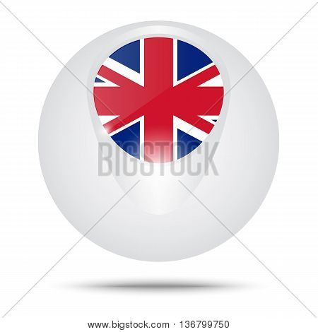 Vector illustration. Conceptual sphere. Flag of the Great Britain. poster