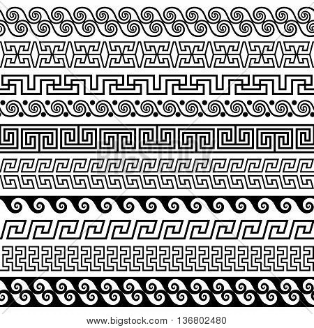 Set of brushes to create the Greek Meander patterns and samples of their application for round frames and borders. Brushes included in the file.