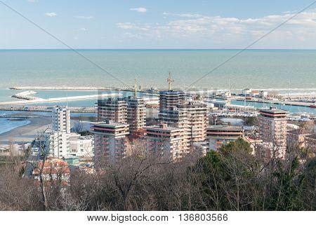 Buildings in Baia Flaminia district of Pesaro