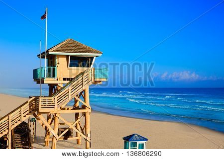 Daytona Beach in Florida baywatch tower in USA