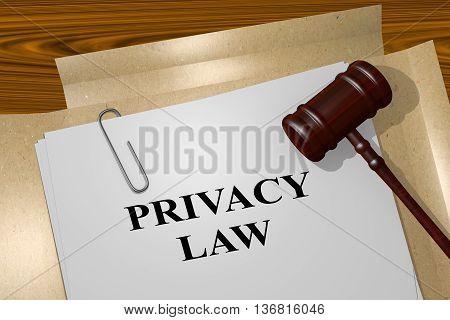 Privacy Law Legal Concept