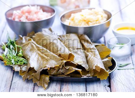 Ingredients For Dolma