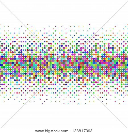 Gradient Seamless Background with Color Dots for Creative Idea