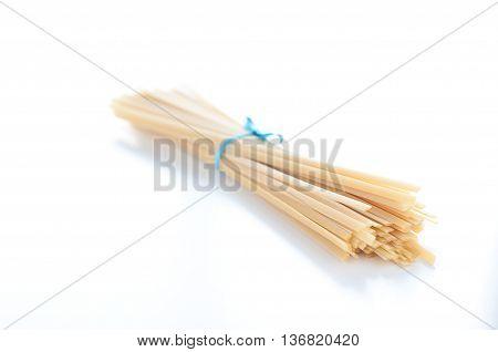 fantastic and delicious Italian pasta fettuccine type similar to spaghettiitaly