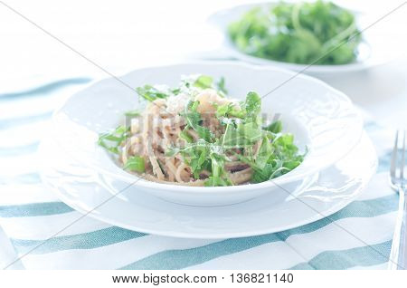 delicious pasta with tuna and rocket italy