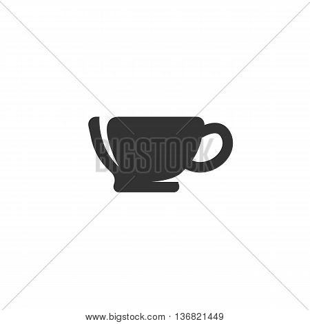 Vector cup icon on white background - stock vector