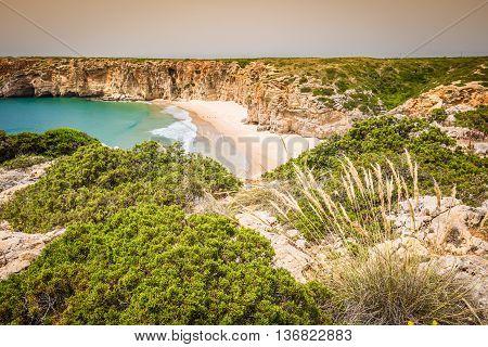 Praia do Beliche - beautiful coast and beach of Algarve Portugal