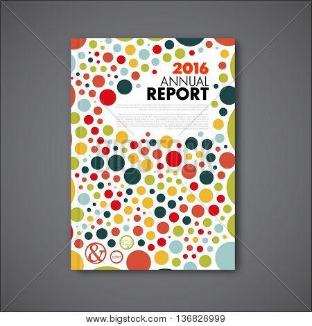 Modern Vector Annual Report Review Vector & Photo | Bigstock