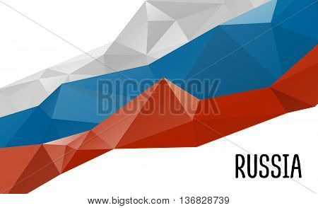 Stylized background Russia flag, official colors. National Russia flag. Russia flag . Russia flag drawing EPS.