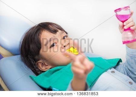 The Fluoride coating in children feeling happy