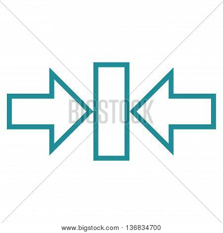 Pressure Horizontal vector icon. Style is thin line icon symbol, soft blue color, white background.