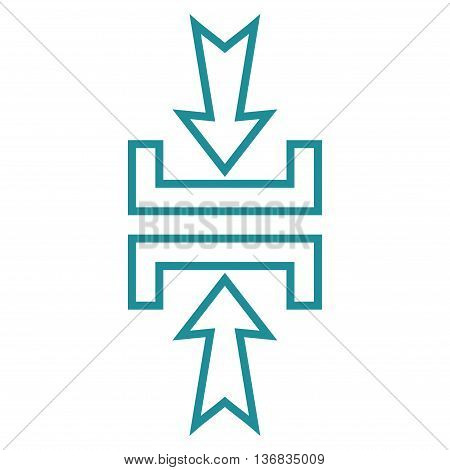 Pressure Vertical vector icon. Style is thin line icon symbol, soft blue color, white background.