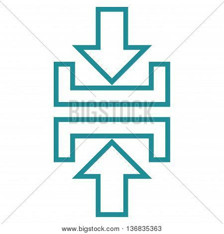 Pressure Vertical vector icon. Style is outline icon symbol, soft blue color, white background.