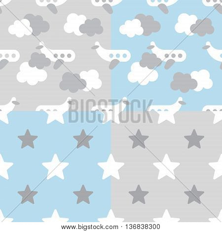 Adorable newborn background. Baby shower pattern. Vector baby pattern for baby card design. Vector seamless kids pattern. Vector cute baby pattern.