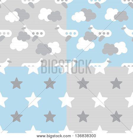 Adorable newborn background. Baby shower pattern. Vector baby pattern for baby card design. Vector seamless kids pattern. Vector cute baby pattern.